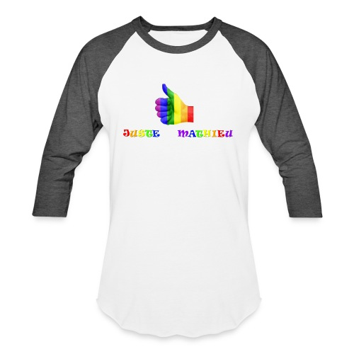Logo LGBT + Name of the company - Baseball T-Shirt