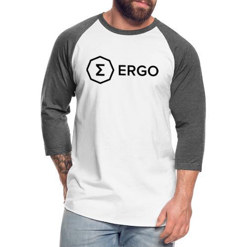 Ergo Symbol with Name - Unisex Baseball T-Shirt