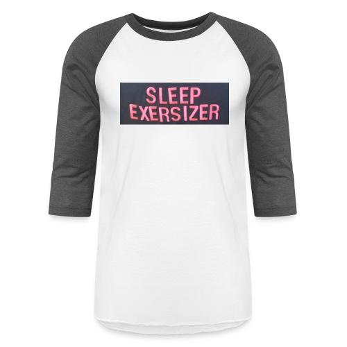 Sleep Exersizer Words - Unisex Baseball T-Shirt
