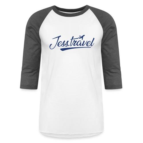 Jess Travel Logo LARGE Reverse - Unisex Baseball T-Shirt