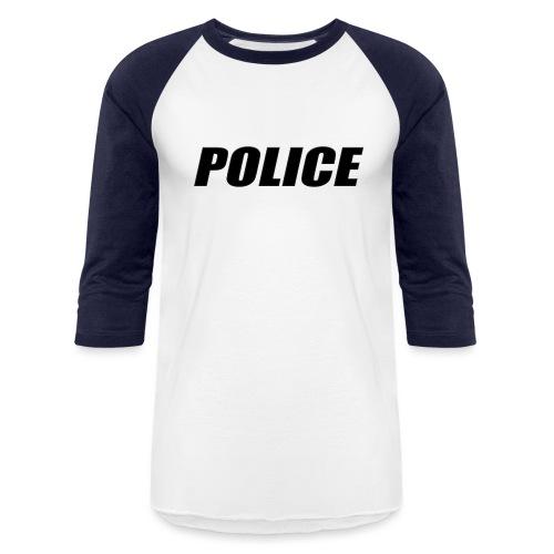 Police Black - Unisex Baseball T-Shirt
