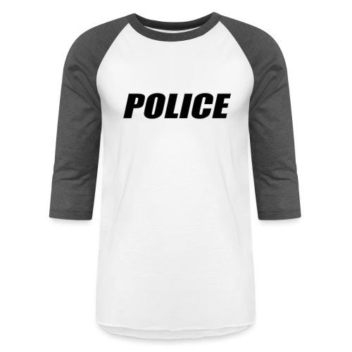 Police Black - Baseball T-Shirt