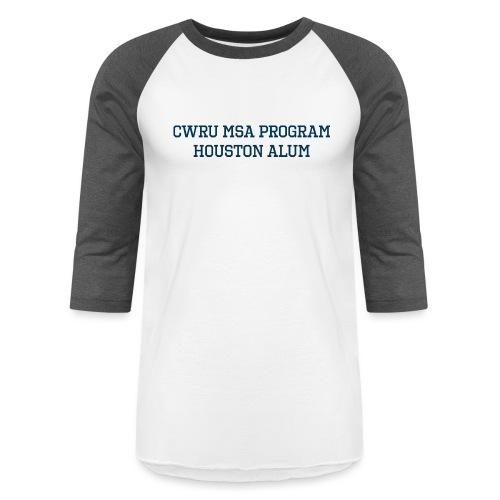 Houston CWRU Alum - Unisex Baseball T-Shirt