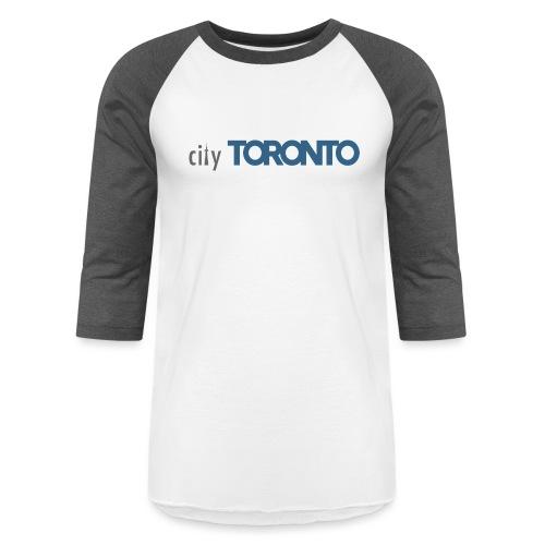 cityTorontoLogoNEW.png - Unisex Baseball T-Shirt