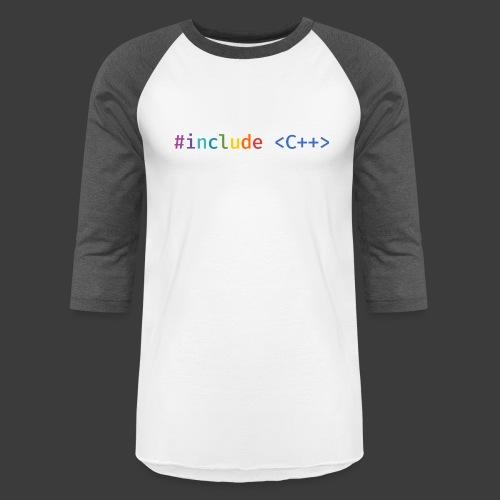 Rainbow Include C++ (Light Background) - Unisex Baseball T-Shirt