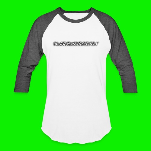 Warherolion plane text-gray - Baseball T-Shirt