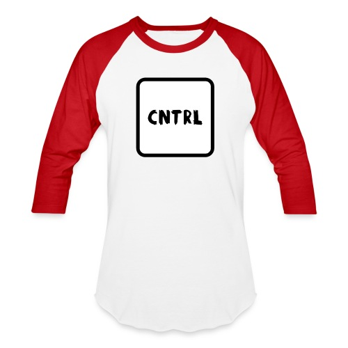 White CNTRL Logo - Baseball T-Shirt