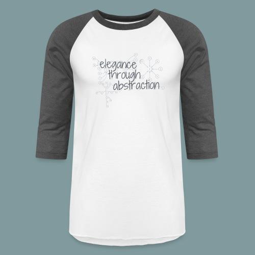 Elegance through Abstraction - Unisex Baseball T-Shirt