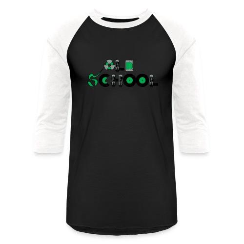 Old School Music - Unisex Baseball T-Shirt