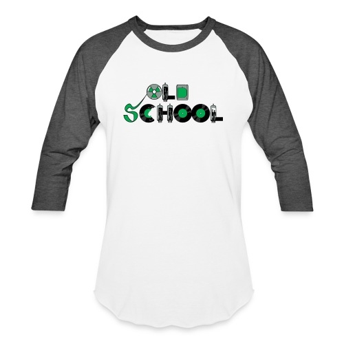 Old School Music - Unisex Baseball T-Shirt