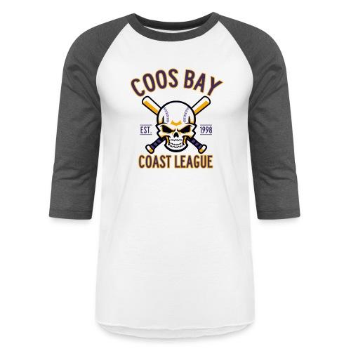 Coos Bay Coast League on White or Gray - Baseball T-Shirt