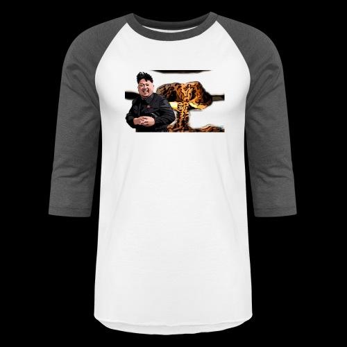 Crazy Kim exploded - Baseball T-Shirt