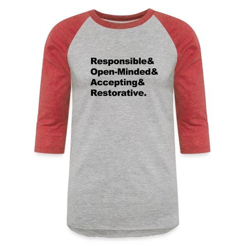ROAR Helvetica - Unisex Baseball T-Shirt