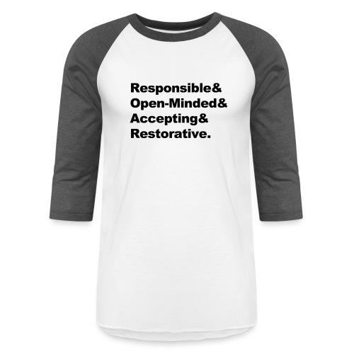 ROAR Helvetica - Baseball T-Shirt