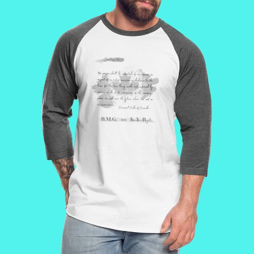 Section15 Criminal Code of Canada - Unisex Baseball T-Shirt