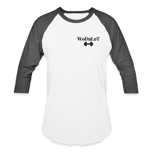 WoDaLoT black logo - Unisex Baseball T-Shirt