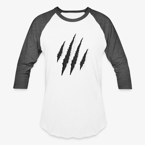 claws t-shirt design - Unisex Baseball T-Shirt