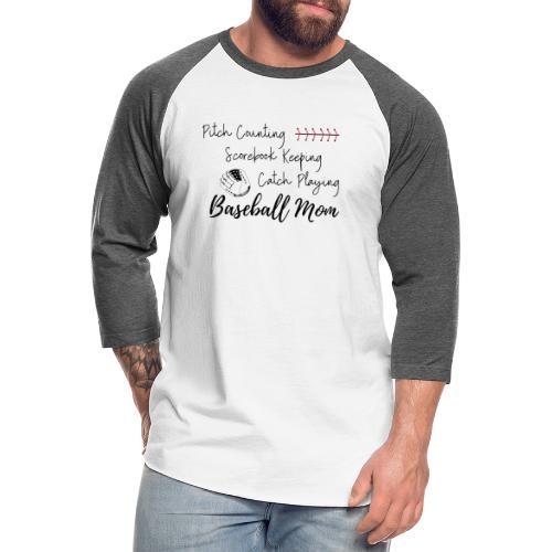Pitch Counting Scorebook Catch Baseball Mom - Unisex Baseball T-Shirt