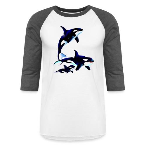 Killer Whale Family - Baseball T-Shirt