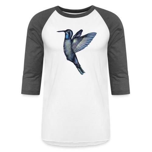 Hummingbird in flight - Unisex Baseball T-Shirt