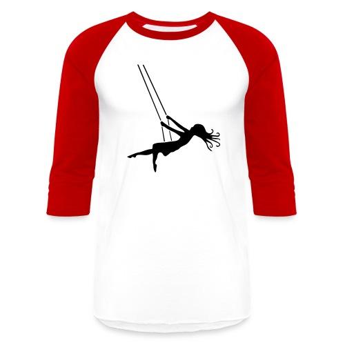 Swinging Girl - Baseball T-Shirt