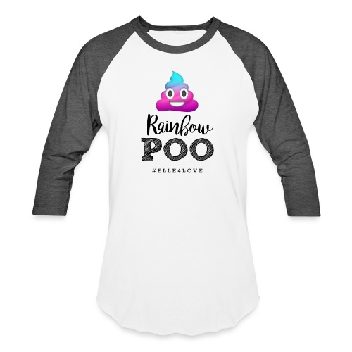 Rainbow Poo - Baseball T-Shirt