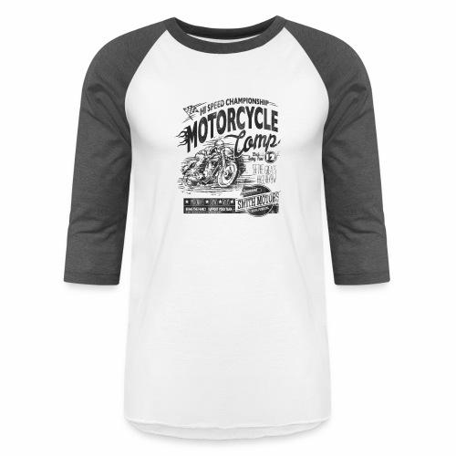 Motorcycle Camp - Unisex Baseball T-Shirt
