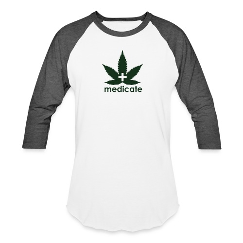 Medicate Supporter - Unisex Baseball T-Shirt