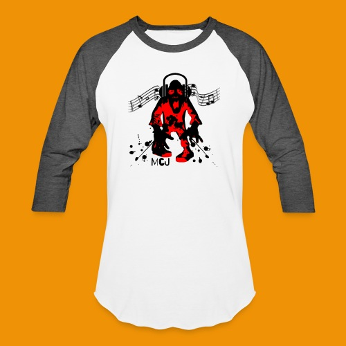 Music Zombie - Unisex Baseball T-Shirt