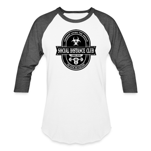 SOCIAL DISTANCE CLUB - Unisex Baseball T-Shirt