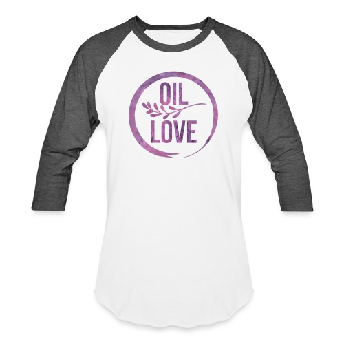 Oil Love Purple - Baseball T-Shirt