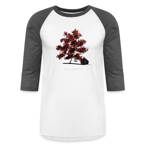 Red Tree design3PNG - Unisex Baseball T-Shirt