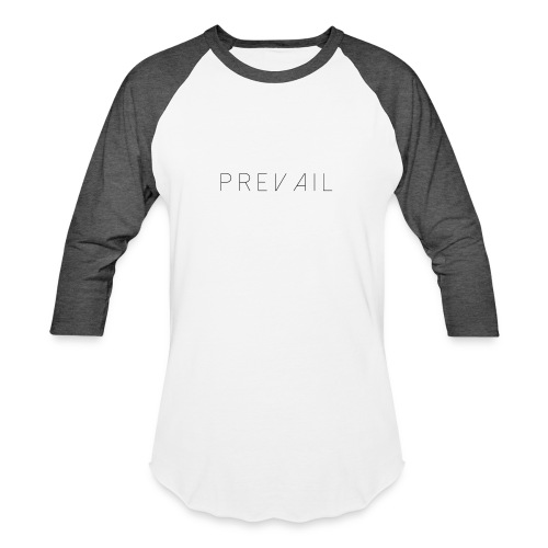 Prevail White - Baseball T-Shirt