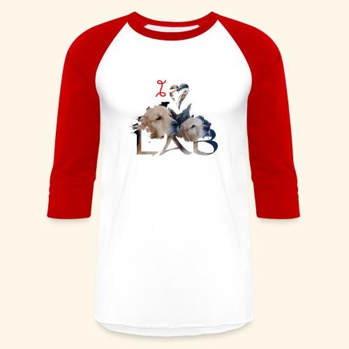 I love Lab - Baseball T-Shirt