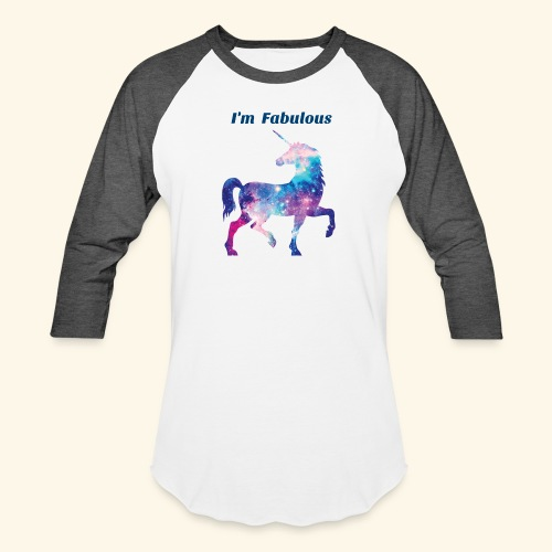 I'm Fabulous Unicorn - Baseball T-Shirt