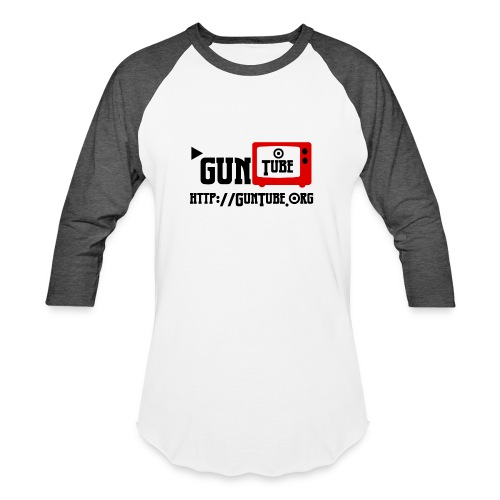 GunTube Shirt with URL - Baseball T-Shirt