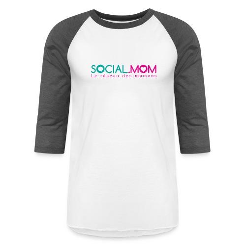 Social.mom logo français - Baseball T-Shirt