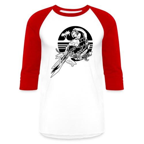Tropical Parrot - Baseball T-Shirt