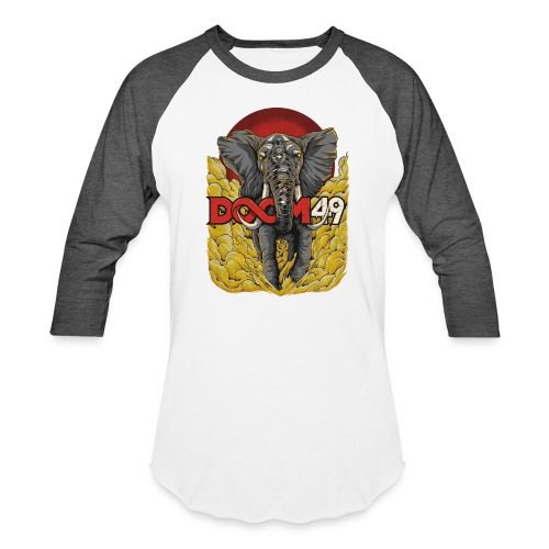 Yellow Smoke Elephant by DooM49 - Unisex Baseball T-Shirt