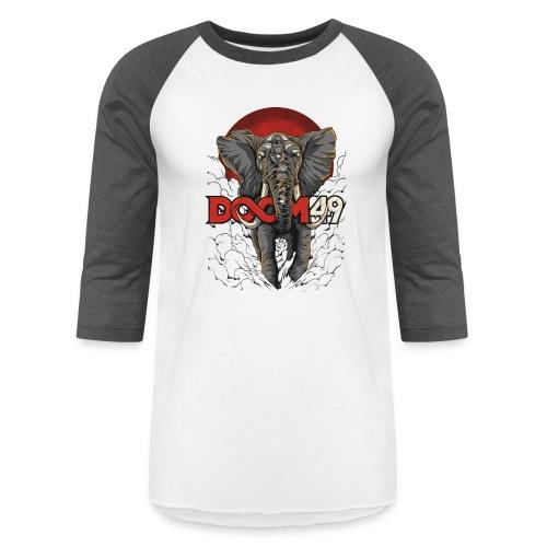 Clear Smoke Elephant by DooM49 - Unisex Baseball T-Shirt