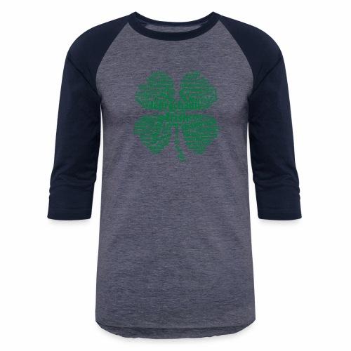 Shamrock Word Cloud - Baseball T-Shirt