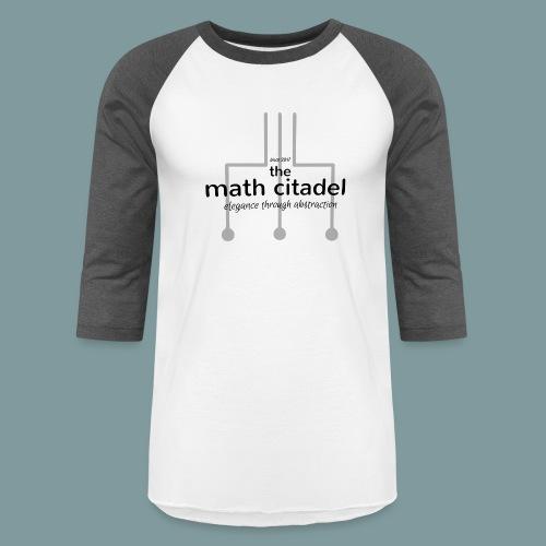 Abstract Math Citadel - Unisex Baseball T-Shirt
