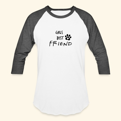 girls best friend Paw Print - Unisex Baseball T-Shirt