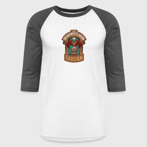 the dragons flagon tavern dragon fantasy - Unisex Baseball T-Shirt