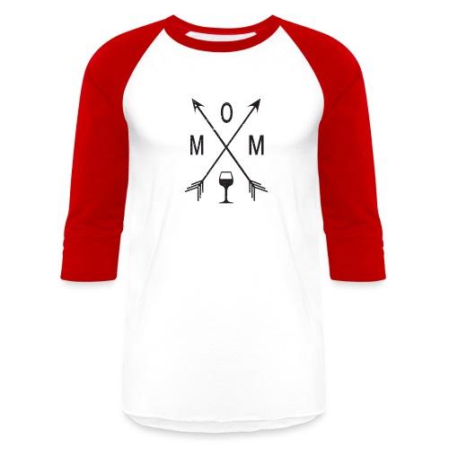 Mom Loves Wine (black ink) - Baseball T-Shirt