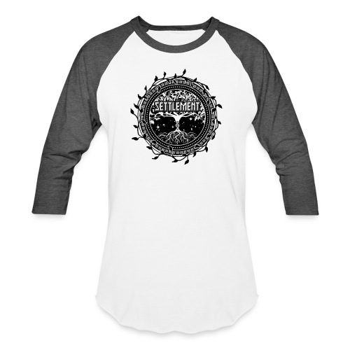 Band Seal (Black) | The Settlement - Unisex Baseball T-Shirt