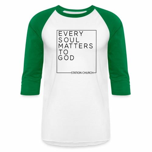 ESMTG Black - Unisex Baseball T-Shirt