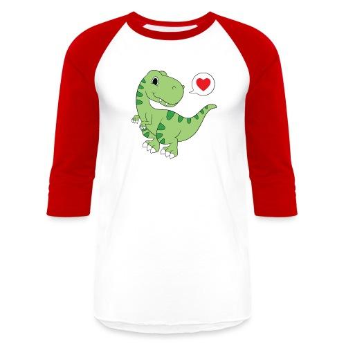 Dinosaur Love - Baseball T-Shirt