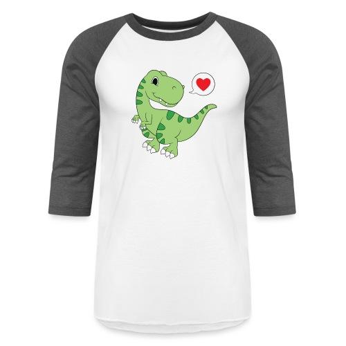 Dinosaur Love - Unisex Baseball T-Shirt