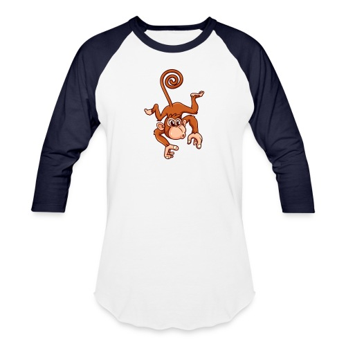 Cheeky Monkey - Unisex Baseball T-Shirt